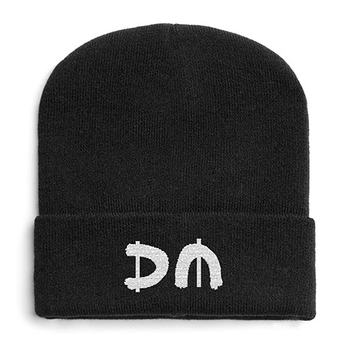 Silver DM Turn Up Beanie
