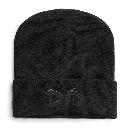 Black DM Turn Up Beanie
