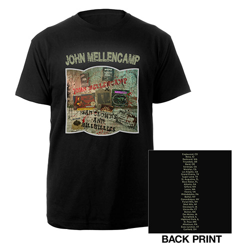 John Mellencamp black clown posting tee