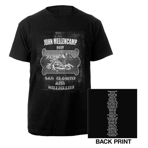 John Mellencamp sad clowns and hillbillies bike tee