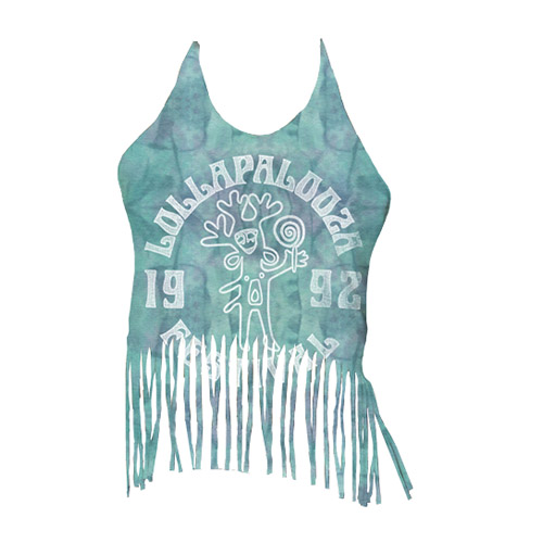 Juniors Tie-Dye Fringe Halter Top