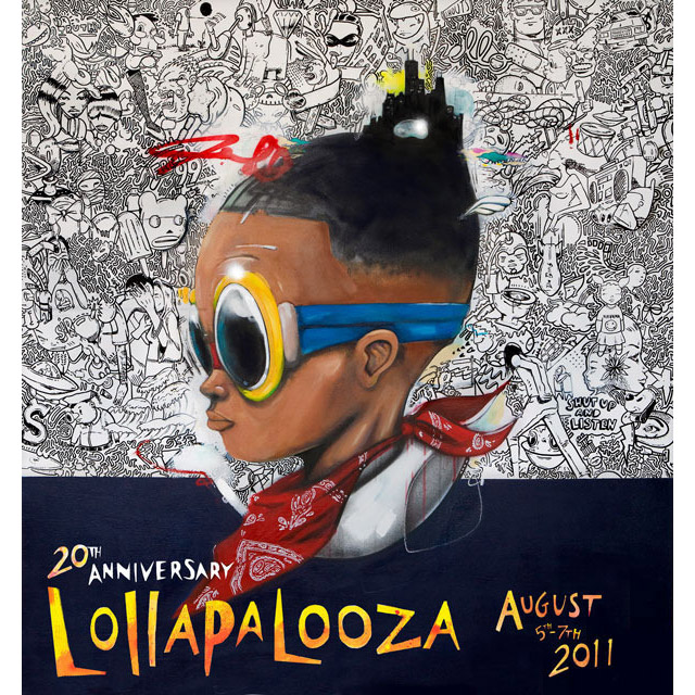 2011 Lolla Poster Giclee Edition