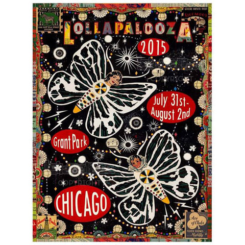 2015 Lollapalooza Poster Signed & Numbered Edition