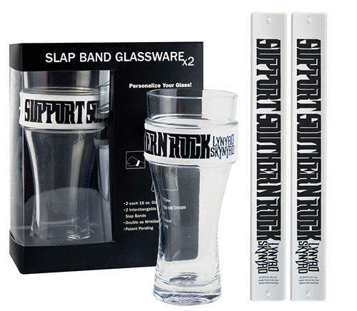 Support Southern Rock Slap Band Glass Set