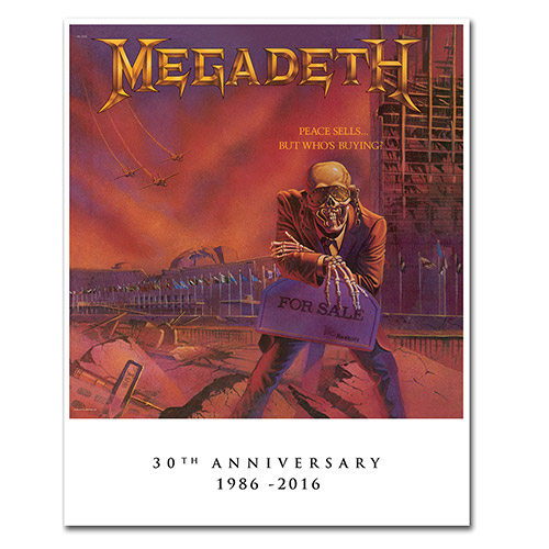 Megadeth Peace Sells 30th Anniversary Lithograph