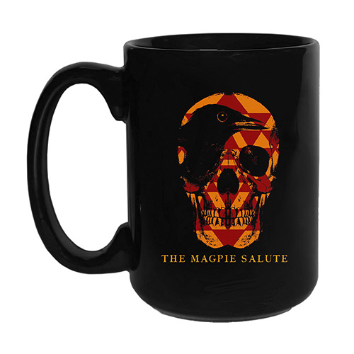 Black Mug with Skull Logo
