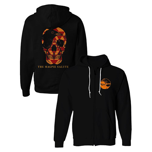 Black Zipper Hoodie with Skull & TMS Logo