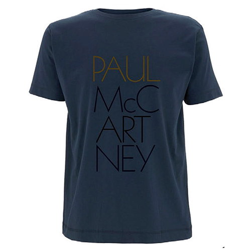 'Pure McCartney' Mens Navy T-shirt