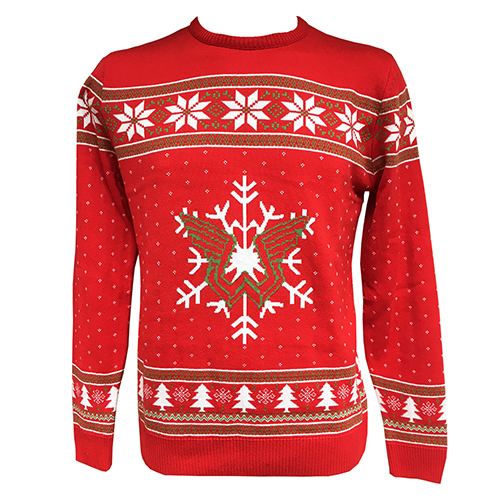 Wings Christmas Knitted Red Jumper