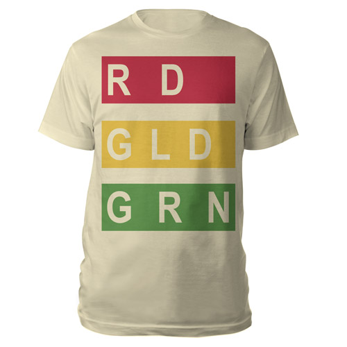 RDGLDGRN Cream Stacked Logo Tee