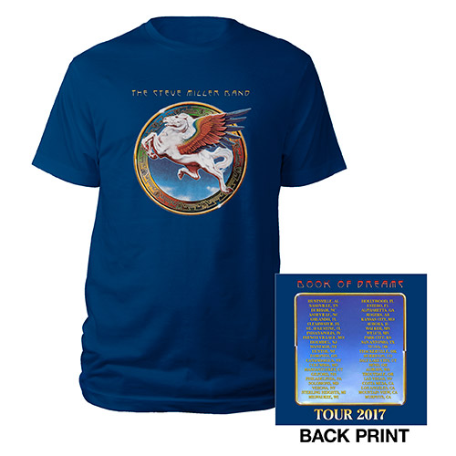Book Of Dreams Tour 2017 Blue Event Tee