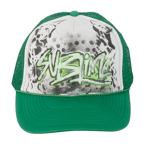 Green Lou Dog Sublime (kelly/white trucker)