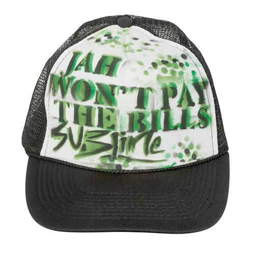 Jah wont pay the bills (black/white trucker)