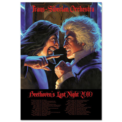 Trans-Siberian Orchestra Lightning Lithograph
