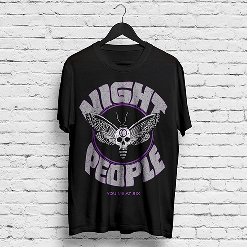 YMAS Night People/2017 UK Dates Black T-shirt